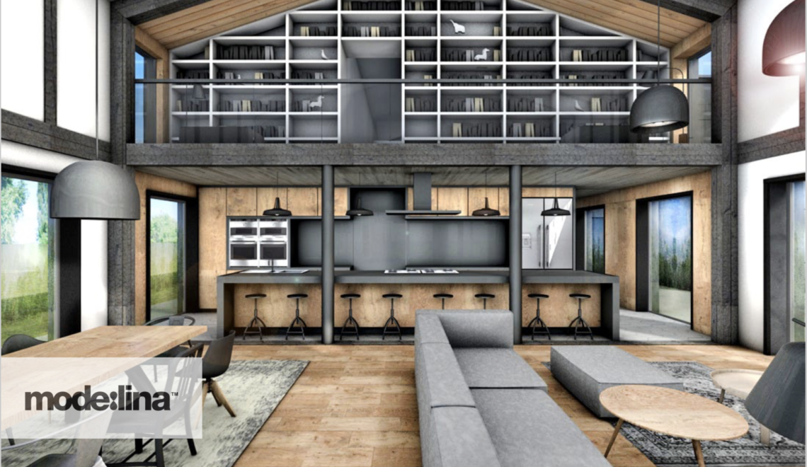 Salon z kuchnią – serce naszej stodoły